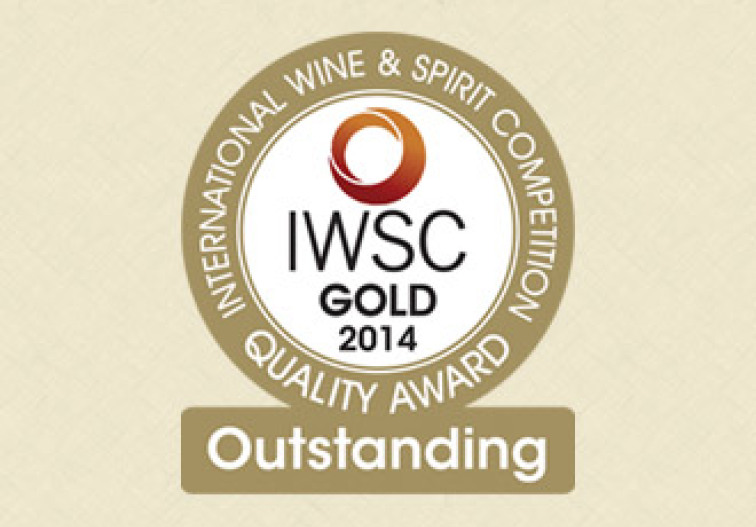 'Gold Outstanding 2014 - IWSC awards